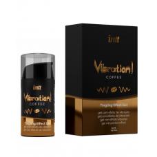 Жидкий вибратор Intt Vibration Coffee (15 мл), густой гель, очень вкусный, действует до 30 минут